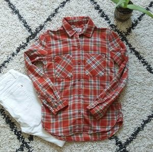 Vans plaid button-down shirt